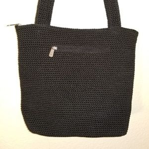 The Sak Black Crochet Purse
